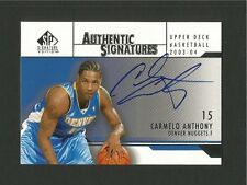2003/04 Carmelo Anthony SP Authentic, Authentic Signatures SP auto