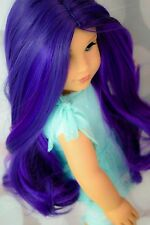 "Custom Wig For American Girl Doll  Brand New! Sugar Plum Purple 10-11"" cir."
