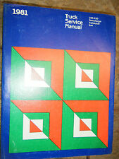 1981 DODGE RAMCHARGER PICK UP TRUCK  D W 150-350 FACTORY SERVICE MANUAL 4X4 SHOP