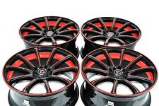 18 red Wheels Rims TL Mazda 3 5 6 Galant Fusion 300ZX Accord Civic 5x100 5x114.3