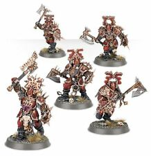 AS10 Warhammer Age Of Sigmar Chaos - 5 x Guerriers De Sang Blood Warriors