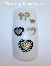 Etiqueta engomada del clavo-destello de plata corazón # 117 ble899d transferencia de los niños de San Valentín