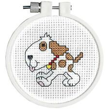 White Brown Spotted Dog Kids Counted Cross Stitch Kit by Janlynn 0211754