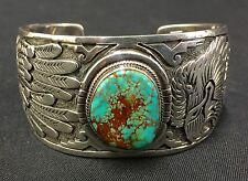 Nice Turquoise Cuff Bracelet *Native American Indian* Dead Pawn*