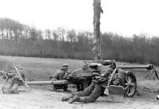 WWII Photo German Pak 40 7.5cm Gun In Action 1943  WW2 B&W World War Two / 2178