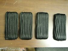 "DOUBLE BRAID DOCK LINE  5/8"" X 20FT BLACK  50-40461  4 PAC 15"" EYE SPLICE BOAT"