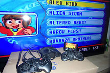 ATGAMES MEGA DRIVE SMALL CONSOLE 16 GAMES PLAYS PAL NTSC CART's Inc' ARROW FLASH