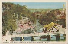 Postcard Quebec Sherbrooke Gorge of Magog River PECO Linen Nr MINT