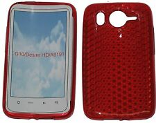 For HTC Desire HD G10 A9191 Pattern Gel Jelly Case Protector Cover Puch RED UK