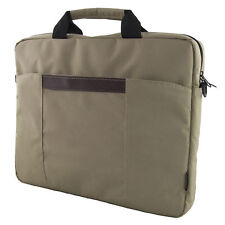 "VALIGETTA CUSTODIA BORSA PORTA DOCUMENTI COMPUTER PC NOTEBOOK 15,6"" BEIGE NUOVA"