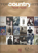 Top Country Hits '04-'05 Songbook Piano Guitar Voice