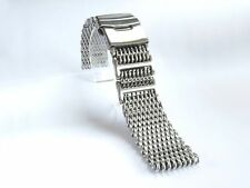 24mm SHARK MESH BRUSHED Stainless Steel, Heavy Duty, Diving, Dive Watch Strap