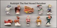 AMAZING MINIATURE FIGURINE,RUDOLPH THE RED NOSED REINDEER, SANTA CLAUS *NICE*