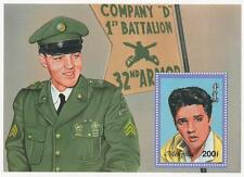 ELVIS PRESLEY COMPANY D 1st BATTALION MILITARY ARMY MONGOLIA MNH STAMP SHEETLET