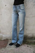 ARMANI JUNIOR GIRLS JEANS BOOTCUT VINTAGE LIGHT BLUE DENIM FADED 15Y W29 UK12