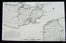 Glass Magic Lantern Slide MAP OF ENGLAND & FRANCE WITH ROMAN & SAXON NAMES C1890