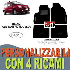 TAPPETINI AUTO SU MISURA PER FIAT PANDA 03-12 MOQUETTE E GOMMA + 4 RICAMI EASY