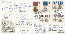 FDC's 1990 Gallantry FDC Signed by 16,  5 Victoria Cross Holders,4 GC holders
