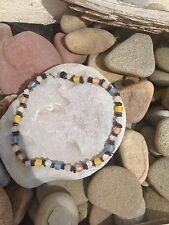 Impresionante Perlas De Vidrio Esmerilado-Surf Collar-Free P & P-UK