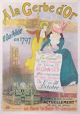 MEUNIER G. FRENCH VINTAGE POSTER A LA GERBE D'OR JEWELRY WATCHES 1897