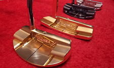 LIMITED GOLD HONMA GOLF JAPAN BERES PP-102 CNC MILLED MALLET PUTTER 2014 MODEL