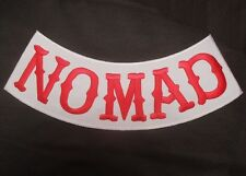 CAFÉ RACER SONS OF NOMAD VEST BOTTOM BACK ROCKER BIKER ANARCHY JACKET PATCH RED