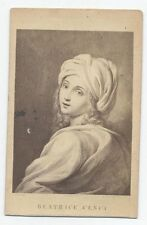 ANTIQUE CDV OF PAINTING OF BEATRICE CENCI BY GUIDO RENI. CENCI THE LEGEND.