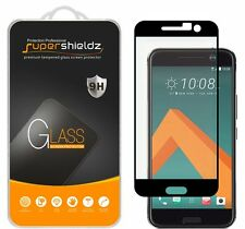 Supershieldz Tempered Glass Screen Protector Saver Shield For HTC 10 (Black)