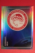 PANINI CHAMPIONS LEAGUE 2011/12 N 379 BADGE OLYMPIACOS WITH BACK BACK MINT!!