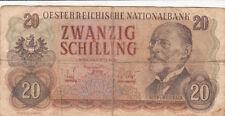 Billet banque AUTRICHE AUSTRIA 20 SCHILLING 1956 état voir scan 205
