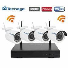 4CH Wireless 1080P NVR 4Pcs 2.0MP HD Camera Wifi CCTV System Home Security