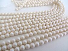 50 Pearlescent White Swarovski Crystal Beads Pearls 5810 6mm