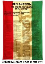 DRAPEAU 150 X 90 cm DECLARATION DES DROITS DE L'HOMME 1948 France Nation Unies