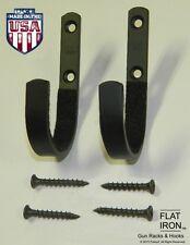 FLATIRON™  Wall Mount Gun Rack Hooks Shotgun Bow Rifle Hangers Felt Lined