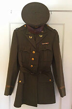WWII U.S. Army Officer's jacket with medals , Hat - Grouping ID'D