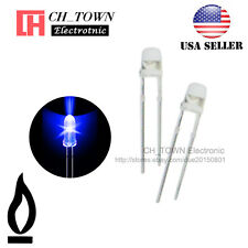 50pcs 3mm Water Clear Blue Light Candle Flicker Flickering Blink LED Diodes USA
