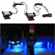 4PCS 3LED Blue Neon Lights Bulbs Car Interior Decoration Cigarette Lighter 12V