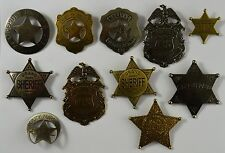 Set of 11 Old West Sheriff Badges - Ranger/Police/Cowboy Wild West Western US
