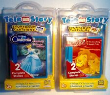 2 TELE STORY Interactive Storybook Cartridges Cinderlla & The Lion King