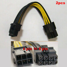 2pcs 6 pin to 8 pin PCI Express Power Converter Cable for GPU Video Card PCI-E