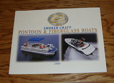 Original 2000 Smoker Craft Pontoon & Fiberglass Boats Sales Brochure 00