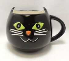 Black Cat Halloween 16 Oz Coffee Tea Cocoa Mug Cup Hand Painted By Tag New
