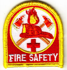 """FIRE SAFETY"" - FIREFIGHTER - PROFESSION - FIREMAN - Iron On Embroidered Patch"