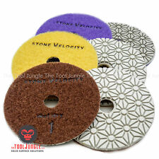Diamond Polishing Pads 4 inch Wet/Dry 3 STEP SET Granite Stone Concrete Marble