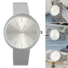 Fashion Women's Luxury Silver Stainless Steel Band Casual Quartz Wrist Watch New