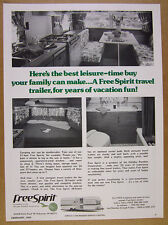 1976 Holiday Rambler FREE SPIRIT Travel Trailer interior photos vintage print Ad
