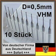 Set de 10 unid. VHM taladro con 0,5mm de diámetro, 9xd, metal duro, placa