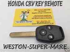 FITS Honda CRV 3 Botones Control Remoto Clave + Nueva Sin cortar clave o/s ID48 Chip Bristol