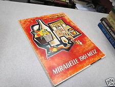 FESTIVAL NATIONAL DES PROVINCES FRANCAISES MIRABELLE 1961 METZ PUB ODER ORY C *