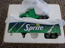 RARE NEW IN BOX PEM DIECAST GREEN SPRITE SEMI TRACTOR TRAILER 1995!! 1:64!!